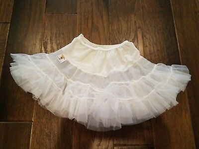 Girls Petticoat White Crinoline Skirt Size 3t 4t