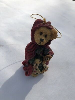 BOYDS Bears RESIN CHRISTMAS Little Red Riding Hood ORNAMENT