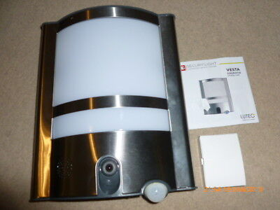 LUTEC Vesta st1906-cam LED Exterior Wall Lamp with Camera 1350LM Anthracite