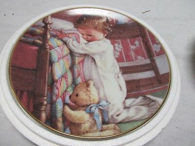 Danbury Bedtime Prayers Plate By Kathy Lawrence A8624