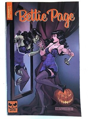 Bettie Page Halloween Special #0 (2018 Dynamite) Reilly Brown Cover