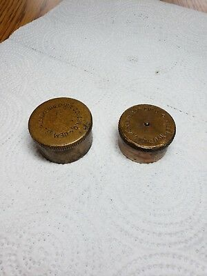 Set of 2 Lunkenheimer Tiger grease cup caps only.