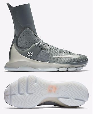 pretty nice b3663 92d27 NIKE KD 8 Elite Men Athletic Shoes, Tumbled Grey/Orange, 834185-001, Size  10.5