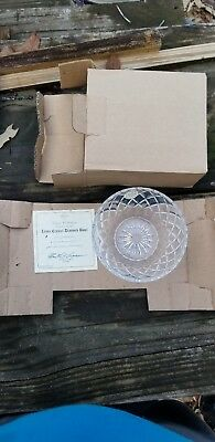 Vintage Diamond by Lenox Clear Cut Lead Crystal Round Bowl Criss Cross Giftware
