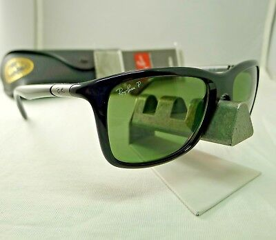 f298040294 RAY-BAN POLARIZED SUNGLASSES Rb3533 002 9A Black Frame green Classic ...