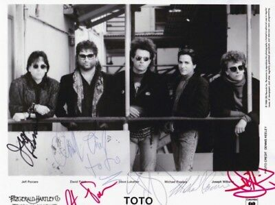 Toto band fully signed autographed promo photo