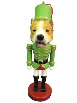 Pit Bull Terrier Dog Toy Soldier Nutcracker Christmas Ornament