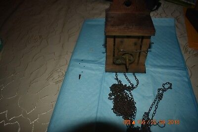 Antique Wooden cuckoo clock movement  for parts