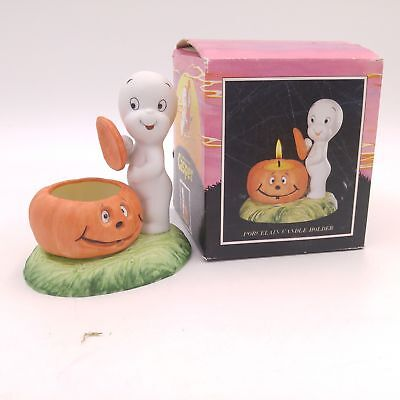Vintage 1986 Casper the Ghost Halloween Candle Holder
