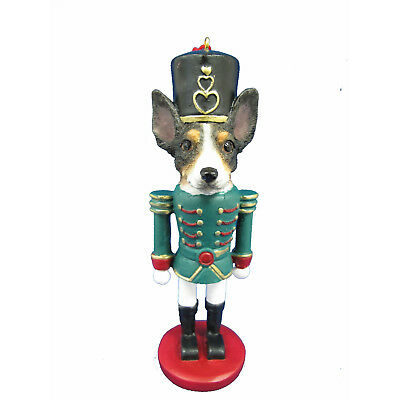 Rat Terrier Dog Toy Soldier Nutcracker Christmas Ornament