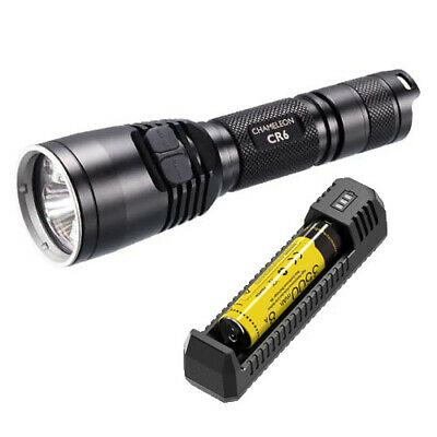 Nitecore CR6 Red/White LED Tactical Torch, Battery & Charger (AUST STK)