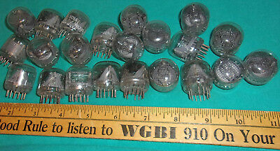 Burrough's Nixie Tubes 5091 5094 & OTHERS Clean! lot of (22) W@W! 1950's!