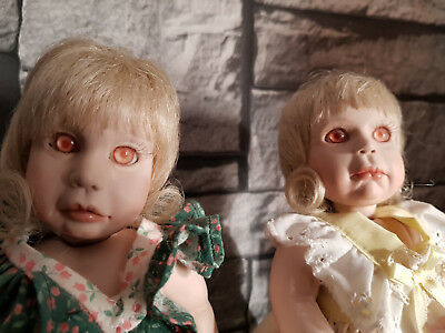 Dolls poupée.Haunted and active Shining Twins