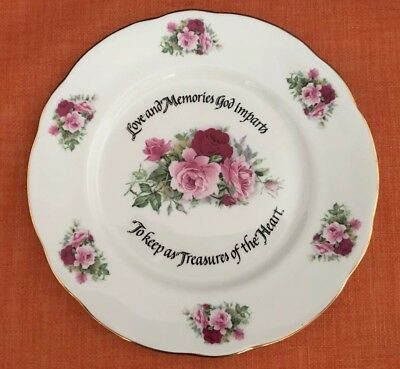 "Duchess ""Fine Bone China"" Pink Rose 8.25"" Plate made in England"