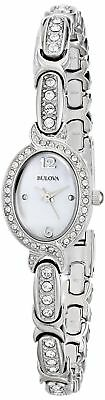 Bulova Women's  96L199 Swarovski Crystal  Stainless Steel Watch FREE SHIPPING