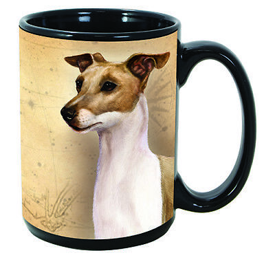 Italian Greyhound Fawn Faithful Friends Dog Breed 15oz Coffee Mug Cup
