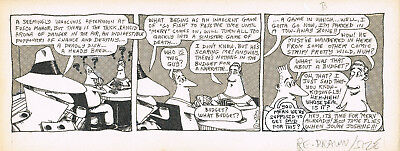 J.C. Duffy Fusco Brothers Original Comic Strip Art  DAILY REDRAWN RARE #2