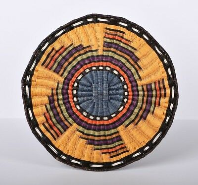 "Hopi 3rd Mesa Ceremonial Plaque - Geometric Design 13"" Diameter Bowl"
