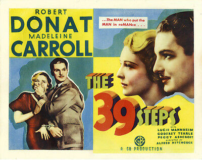 16mm THE 39 STEPS-1935 Hitchcock b/w Feature Film.