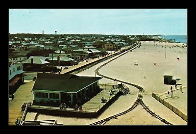Dr Jim Stamps Us Beach Train Railroad Point Pleasant New Jersey View Postcard