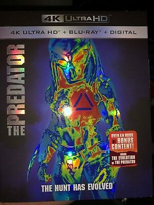 The Predator (4K Ultra HD + Blu-ray + Digital, 2018) Like NEW with Slipcover!!