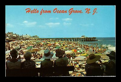 Dr Jim Stamps Us Hello From Ocean Grove New Jersey Beach Chrome View Postcard
