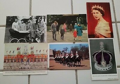Great Britain Mixed Royalty Postcard Queen Elizabeth Family Lot Free Shipping