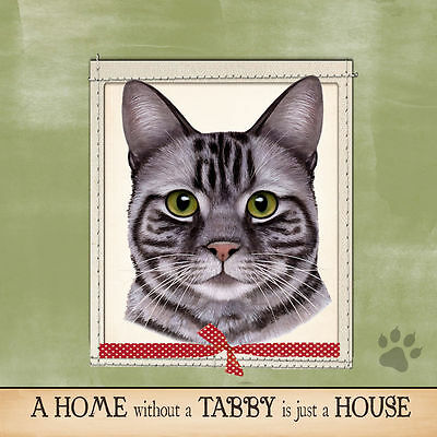 Silver Tabby Cat Soft Couch Dog Breed Throw Pillow