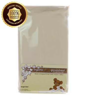 DK Glovesheets Single Bed Fitted Sheet (Organic Natural Unbleached)