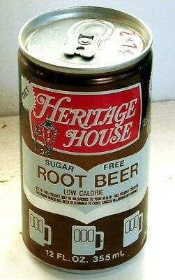 Heritage House Sugar Free Root Beer; Northland, IL; Soda pop can