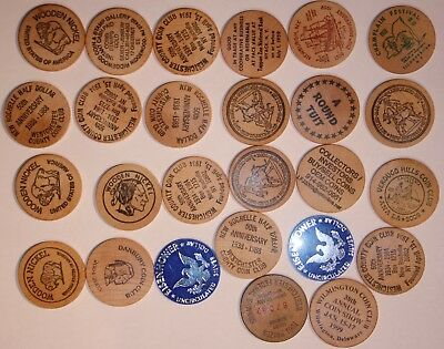 Lot Of  26  Wooden Nickels.         #DBWN1