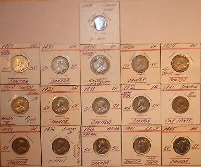 Old Canada Coin Lot  Early Dates.         #FLDB3003