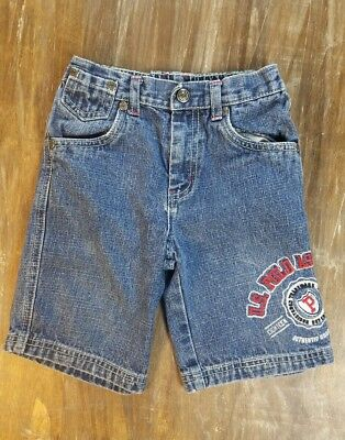 Kids US Polo Assn Jean Shorts Embroided Casual Medium Wash Denim Bottoms Sz 3T