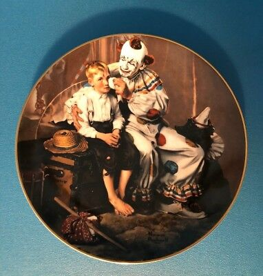 """1986 Heritage House Norman Rockwell """"A Traveler's Pal"""" Collectible Plate #2272"""