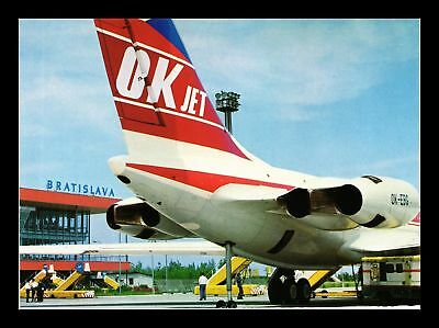 Dr Jim Stamps Ok Jet Czechoslovak Airlines Airplane Continental Size Postcard