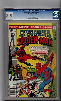 Spectacular Spider-Man #1 CGC 8.5 CGC White Pages