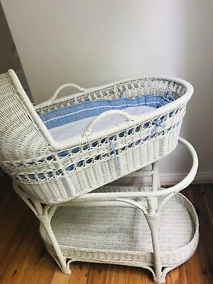 Baby Bassinet - White Wicker used great condition.
