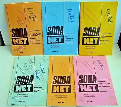 Painted Label Soda Net; 1993 (6) issues; ACL soda collectors Official Newsletter