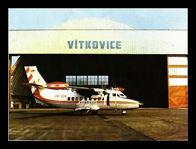 Dr Jim Stamps Vitkovice Airplane Air Hobby Continental Size Postcard