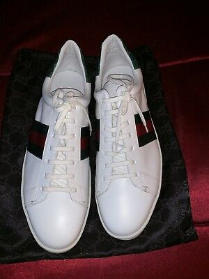 1b523443d32 NIB GUCCI MEN S Ace Leather Lace Up Sneakers size 13 -  425.00 ...