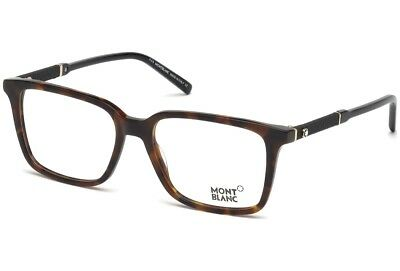 MontBlanc Men's Eyeglasses MB 0675 052 Square Havana/Black Frame MB675 NEW 58mm