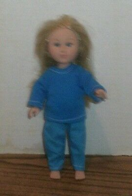 Doll Clothes-fit Mini American Girl Boy My Life-Top & Pants-Both Lt Blue