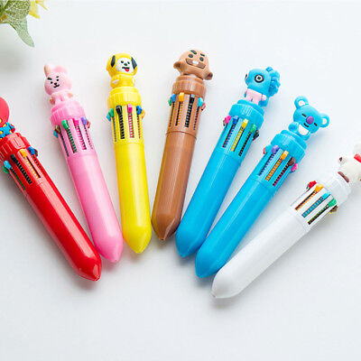 USA Multi-color 10Color Ballpoint Pen Ball Pens Girl School Office Stationery