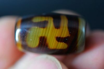 Treasure Tibetan old Agate Dzi *卍 Swastika* Bead pendant  G83