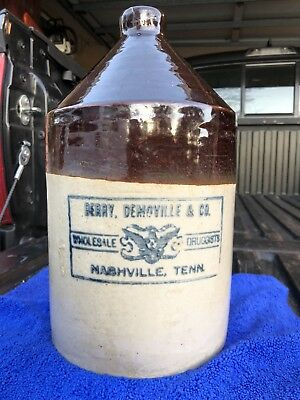 Rare Berry Demoville & Co Wholesale Druggists Nashville, Tennessee Whiskey