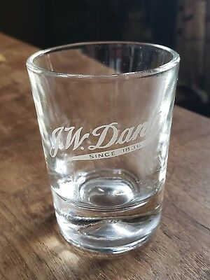 Vintage J.W. DANT Advertising Shot Glass By FEDERAL GLASS