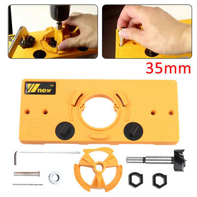 35MM Concealed Hinge Jig Boring Hole Drill Guide +Cutter Bit Set