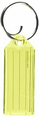 Lucky Line key Tag with Tang Ring, Yellow, Box of 100 (1230080)