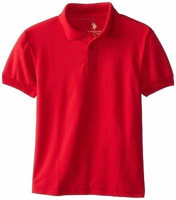 U.S. Polo Assn. Boys Shirt (More Styles Available), Classic Engine Red, 10/12