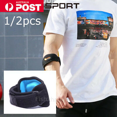 2X Adjustable Tennis/Golf Elbow Support Brace Strap Band Forearm Protection NEW